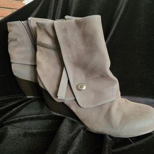 Grey/Cream cuffed bootie